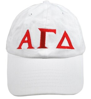 Alpha Gamma Delta Greek Letter Hat