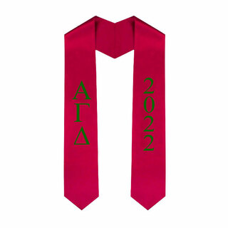 Alpha Gamma Delta Greek Lettered Graduation Sash Stole With Year - Best Value