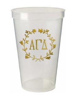 Alpha Gamma Delta Greek Wreath Giant Plastic Cup