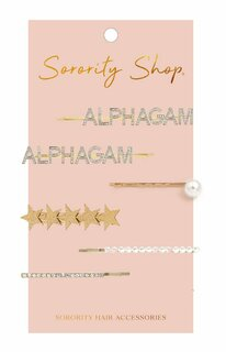 Alpha Gamma Delta Hair Clips