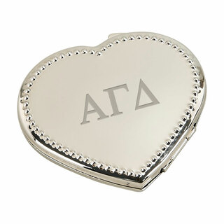 Alpha Gamma Delta Heart Shaped Classic Compact