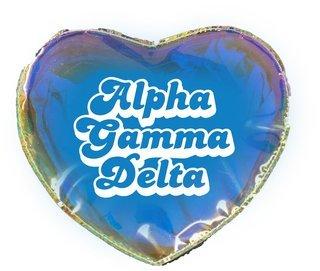 Alpha Gamma Delta Heart Shaped Makeup Bag