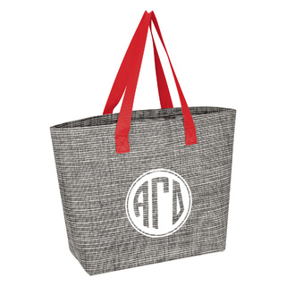 Alpha Gamma Delta Heathered Mesh Tote Bag