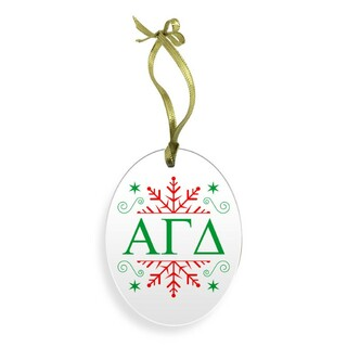 Alpha Gamma Delta Holiday Color Snowflake Christmas Ornament