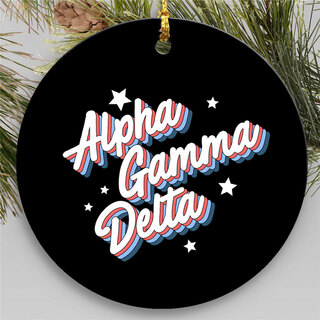 Alpha Gamma Delta Holiday Flashback Ornaments