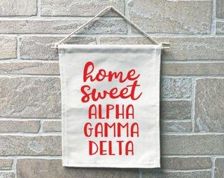 Alpha Gamma Delta Home Sweet Home Banner