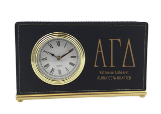 Alpha Gamma Delta Horizontal Desk Clock