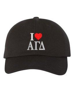 Alpha Gamma Delta I Love Hat