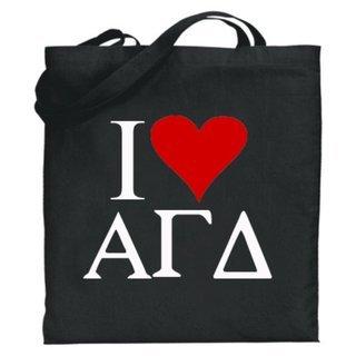 Alpha Gamma Delta I Love Tote Bags