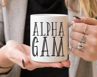 Alpha Gamma Delta Inline Coffee Mug