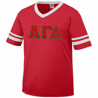 DISCOUNT-Alpha Gamma Delta Jersey With Greek Applique Letters
