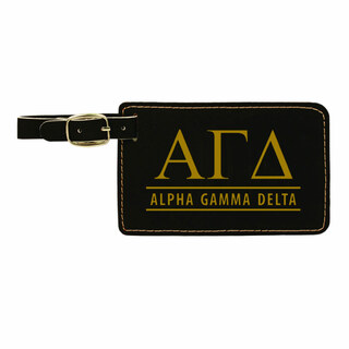 Alpha Gamma Delta Leatherette Luggage Tag