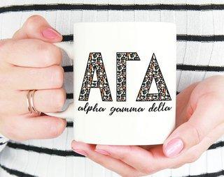 Alpha Gamma Delta Leopard Mug