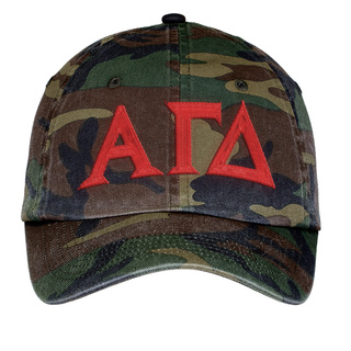 Alpha Gamma Delta Lettered Camouflage Hat