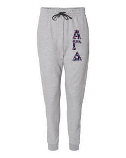 "Alpha Gamma Delta Lettered Joggers (3"" Letters)"