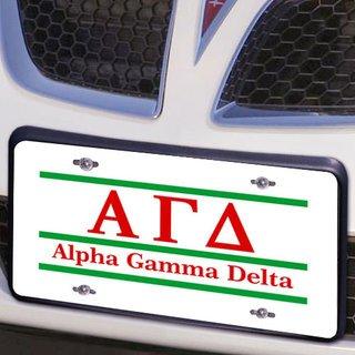 Alpha Gamma Delta Lettered Lines License Cover