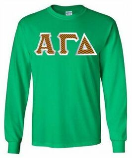 Alpha Gamma Delta  Lettered Long Sleeve Shirt