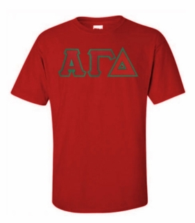 Alpha Gamma Delta Lettered T-shirt - MADE FAST!