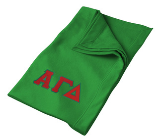 Alpha Gamma Delta Lettered Twill Sweatshirt Blanket