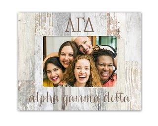 Alpha Gamma Delta Letters Barnwood Picture Frame