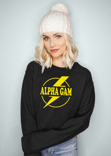 Alpha Gamma Delta Lightning Crewneck Sweatshirt