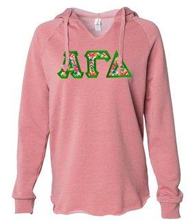 Alpha Gamma Delta Lightweight California Wavewash Hooded Pullover Sweatshirt