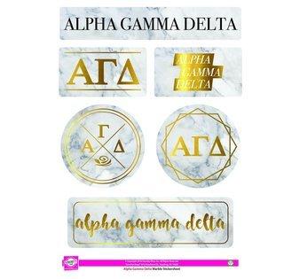 Alpha Gamma Delta Marble Sticker Sheet