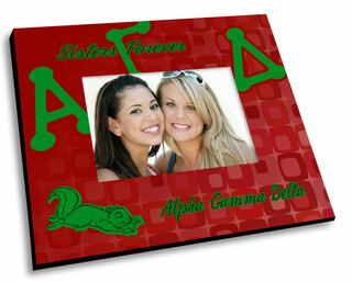 Alpha Gamma Delta Mascot Color Picture Frame