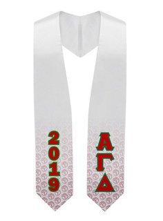 Alpha Gamma Delta Flower Graduation Stole