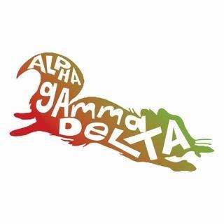 Alpha Gamma Delta Mascot Greek Letter Sticker