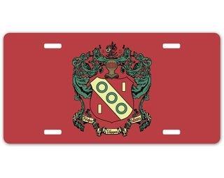 Alpha Gamma Delta Crest - Shield License Plate