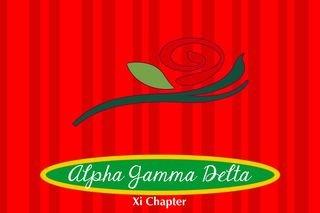 Alpha Gamma Delta Mascot Tablecloth