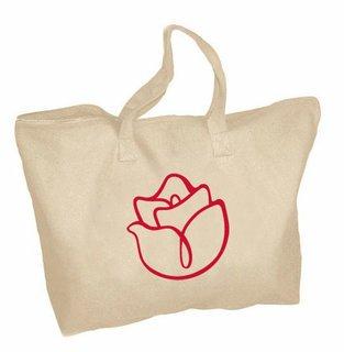 Alpha Gamma Delta Mascot Zippered Tote Bag