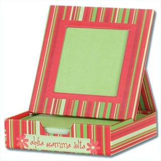 Alpha Gamma Delta Memo Box With Frame