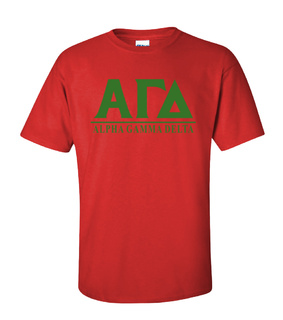 Alpha Gamma Delta Message T-Shirts