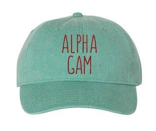 Alpha Gamma Delta Mod Comfort Colors Pigment Dyed Baseball Cap
