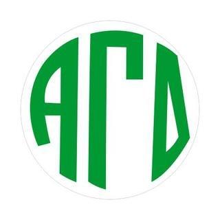Alpha Gamma Delta Monogram Decal