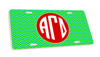 Alpha Gamma Delta Monogram License Plate