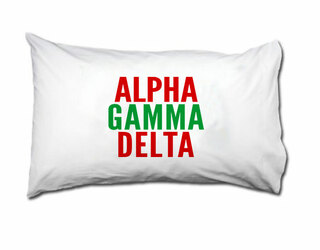 Alpha Gamma Delta Name Stack Pillow Cover