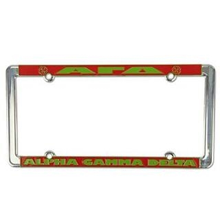 Alpha Gamma Delta New Design License Plate Frame
