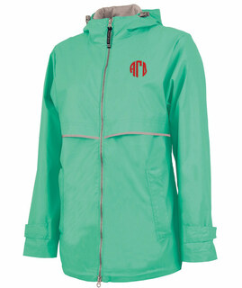 Alpha Gamma Delta New Englander Circle Monogram Rain Coat