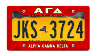 Alpha Gamma Delta New License Plate Frame