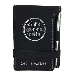 Alpha Gamma Delta Mascot Notepad With Pen