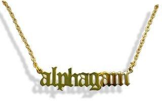 Alpha Gamma Delta Old English Necklaces