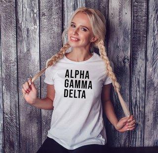 Alpha Gamma Delta Left Align T-Shirt