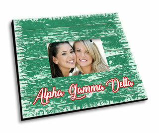Alpha Gamma Delta Painted Fence Picture Frame