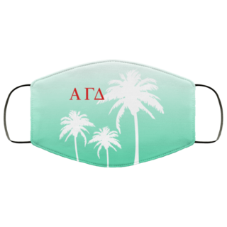 Alpha Gamma Delta Palm Trees Face Mask