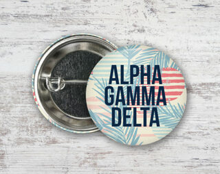 Alpha Gamma Delta Paradise Found Button
