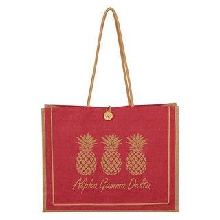 Alpha Gamma Delta Paradise Jute Bag