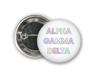 Alpha Gamma Delta Pastel Letter Button